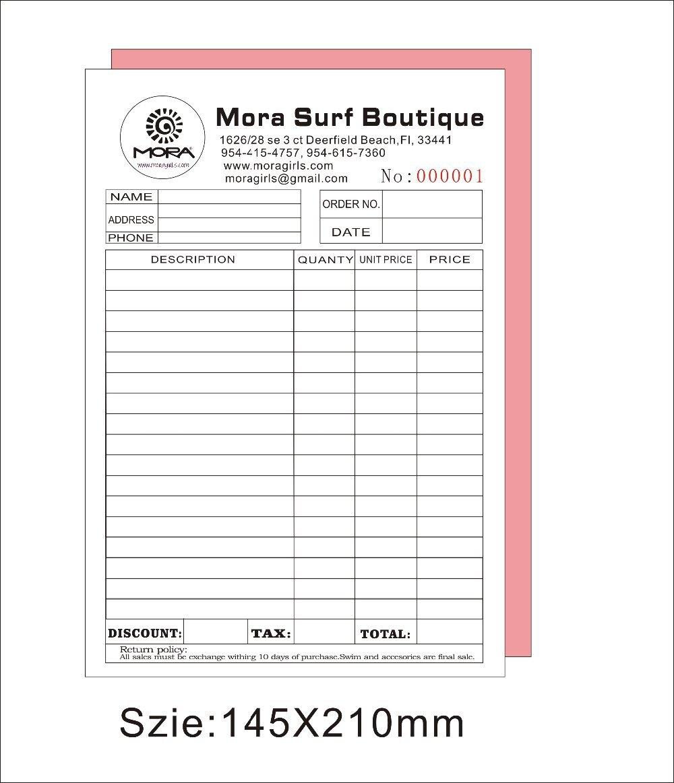 popular custom invoice books buy cheap custom invoice books lots custom carbon copy invoices