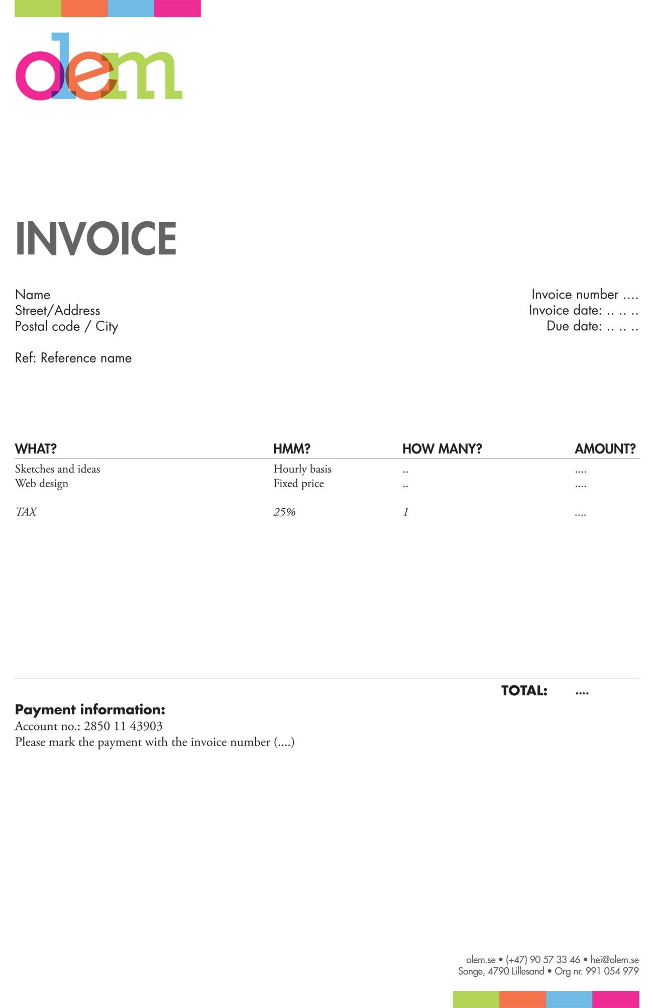 seltar39s soup everything web freelance designer invoice template