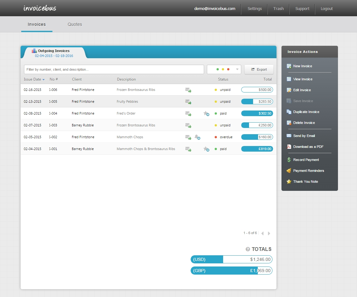 simple online invoicing invoicebus accounting software snappy invoice system