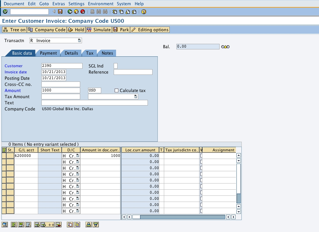 how to clear an invoice in sap