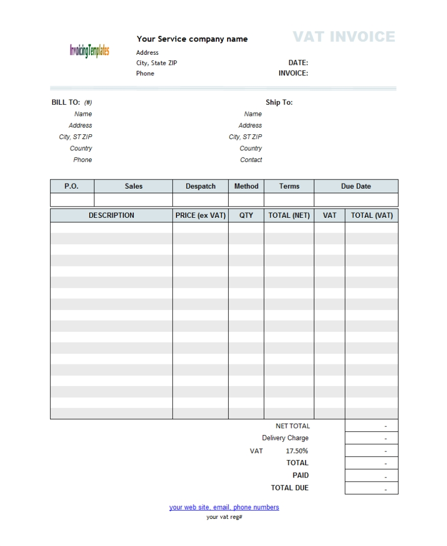 template for invoice for services rendered invoice template free template for invoice for services rendered