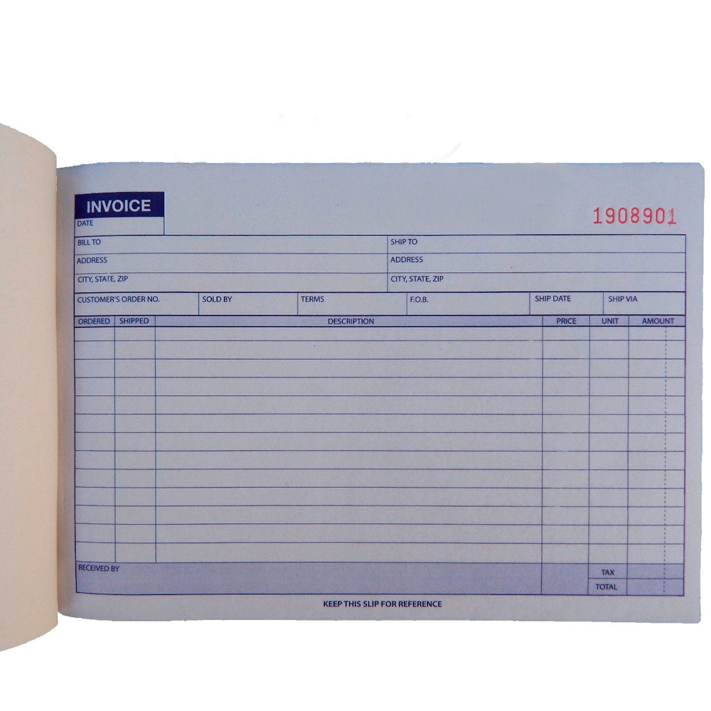 5 x carbonless invoice receipt record book 2 part 50 sets invoice receipt book