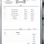 Car Service Invoice