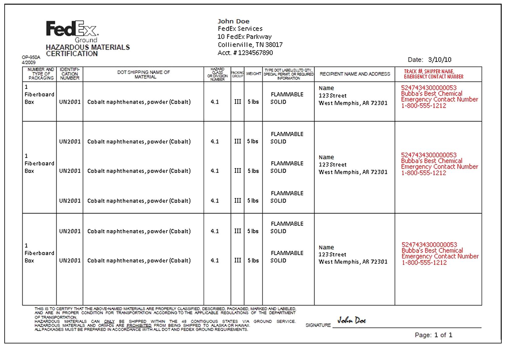 fedex customs invoice * invoice template ideas, Invoice examples