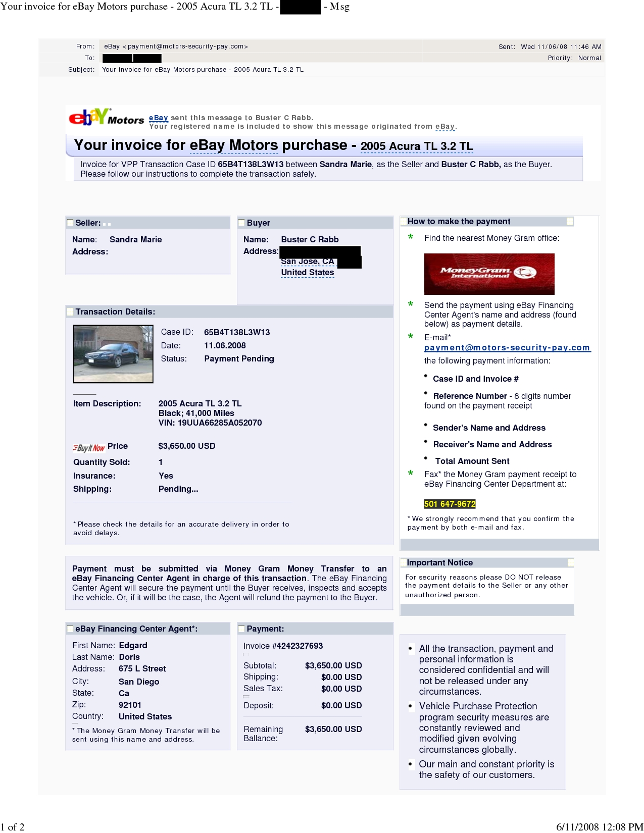 how to create ebay invoice