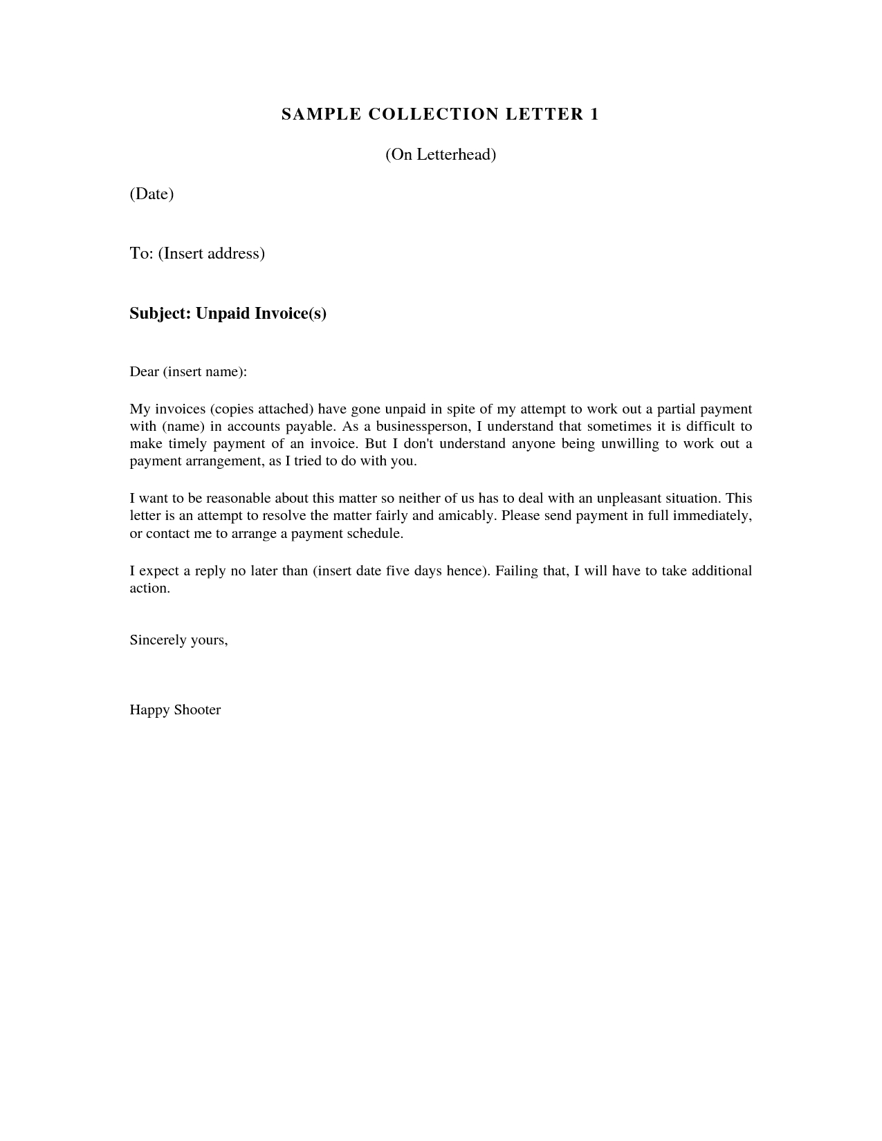 Overdue Invoice Letter Template Invoice Template Ideas