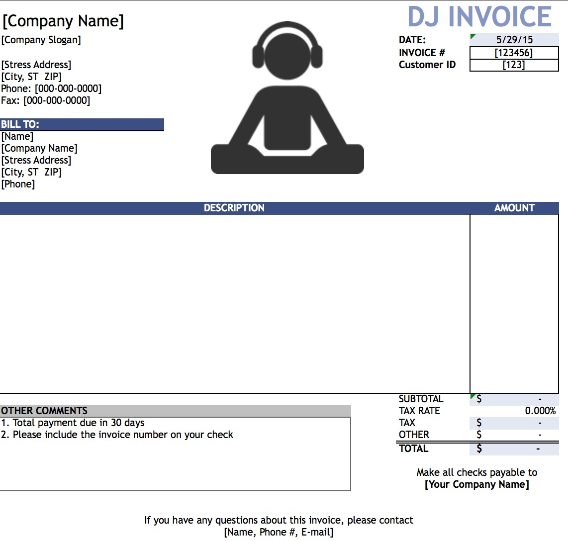 free blank invoice templates in pdf word amp excel aynax free invoice