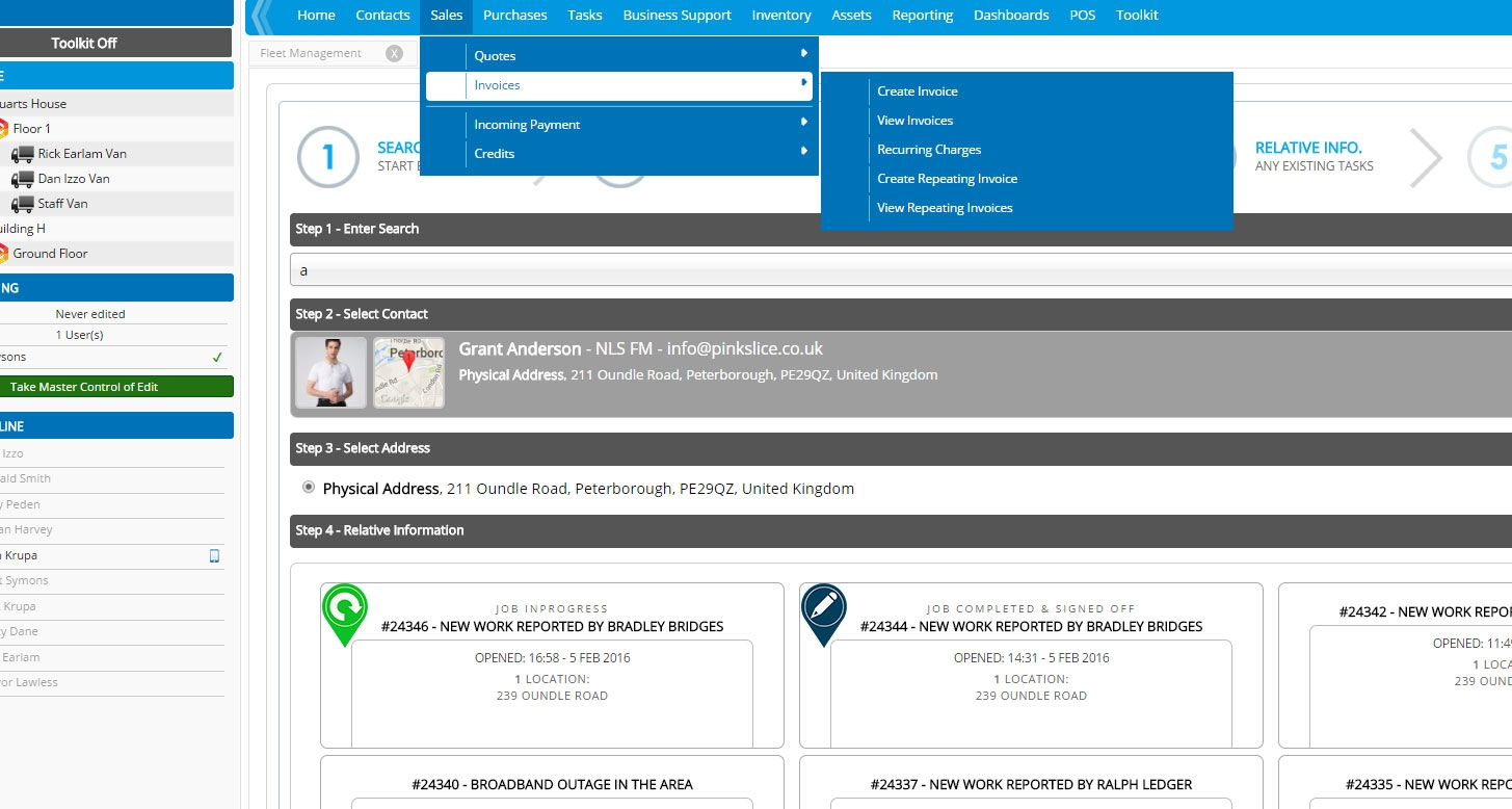 invoice software and facility management erp fm invoice management software