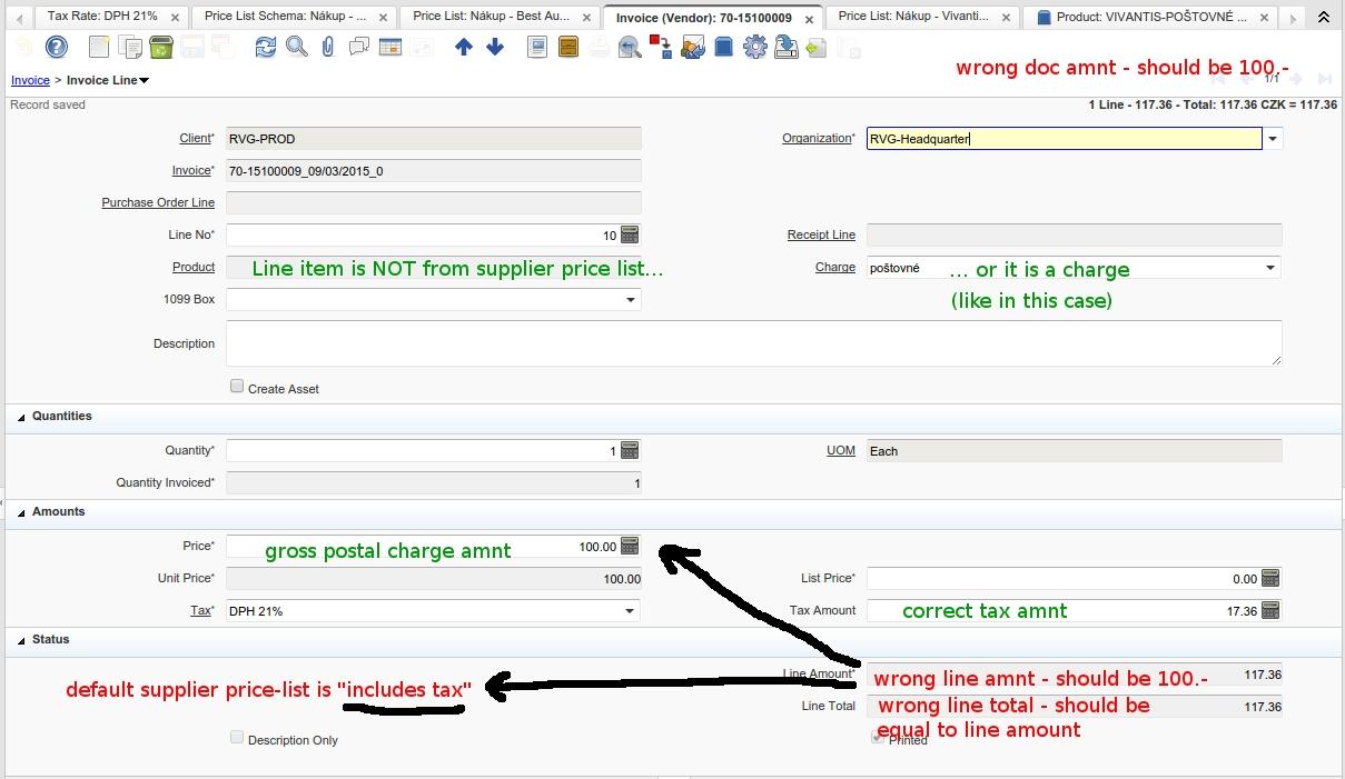 net invoice price idempiere 2805 tax calculation incorrect in vendor invoice if 1209 X 701