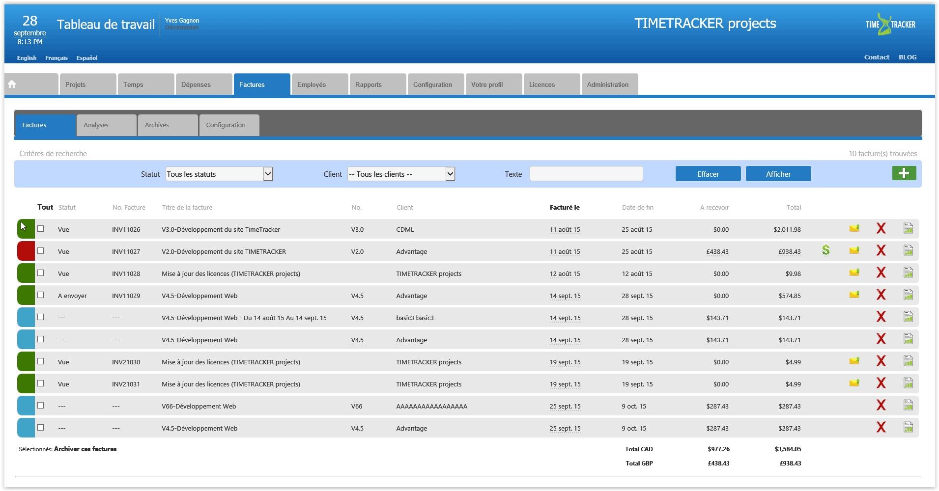 online billing management software timetracker web based invoice management software