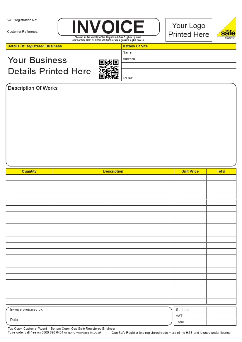 personalised invoice book invoice books personalised