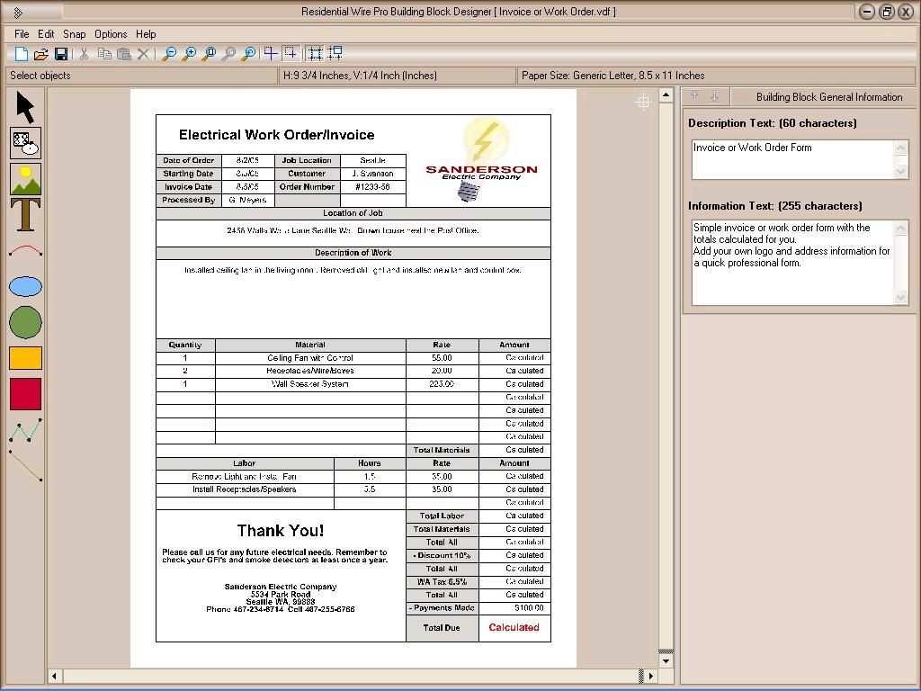 Electrical Invoice Template Invoice Template Ideas – Electrical Invoice Template