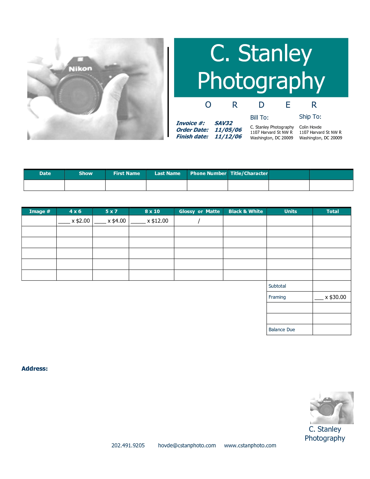 photography invoice template invoice templat examples of invoices invoice photography template