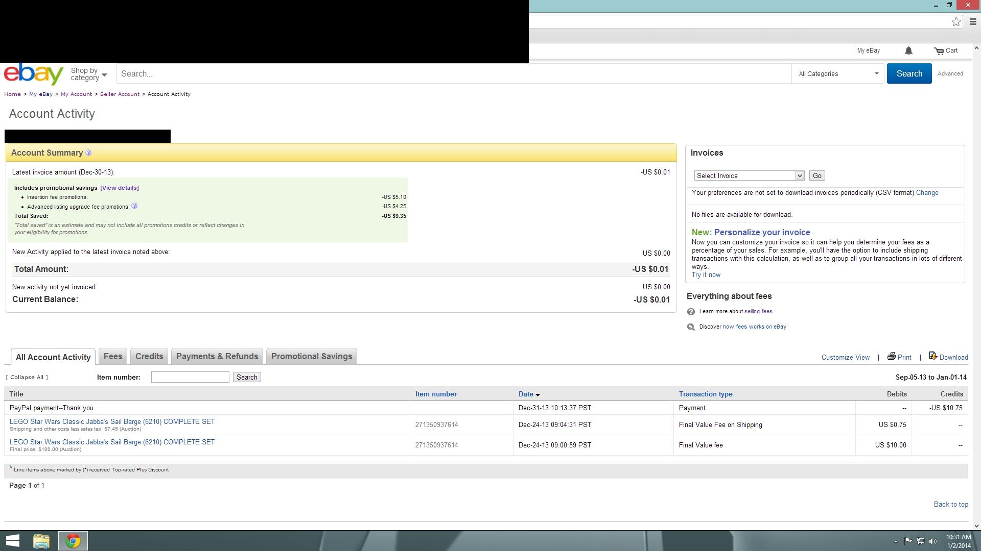 solved random 001 invoice the ebay community ebay invoice software
