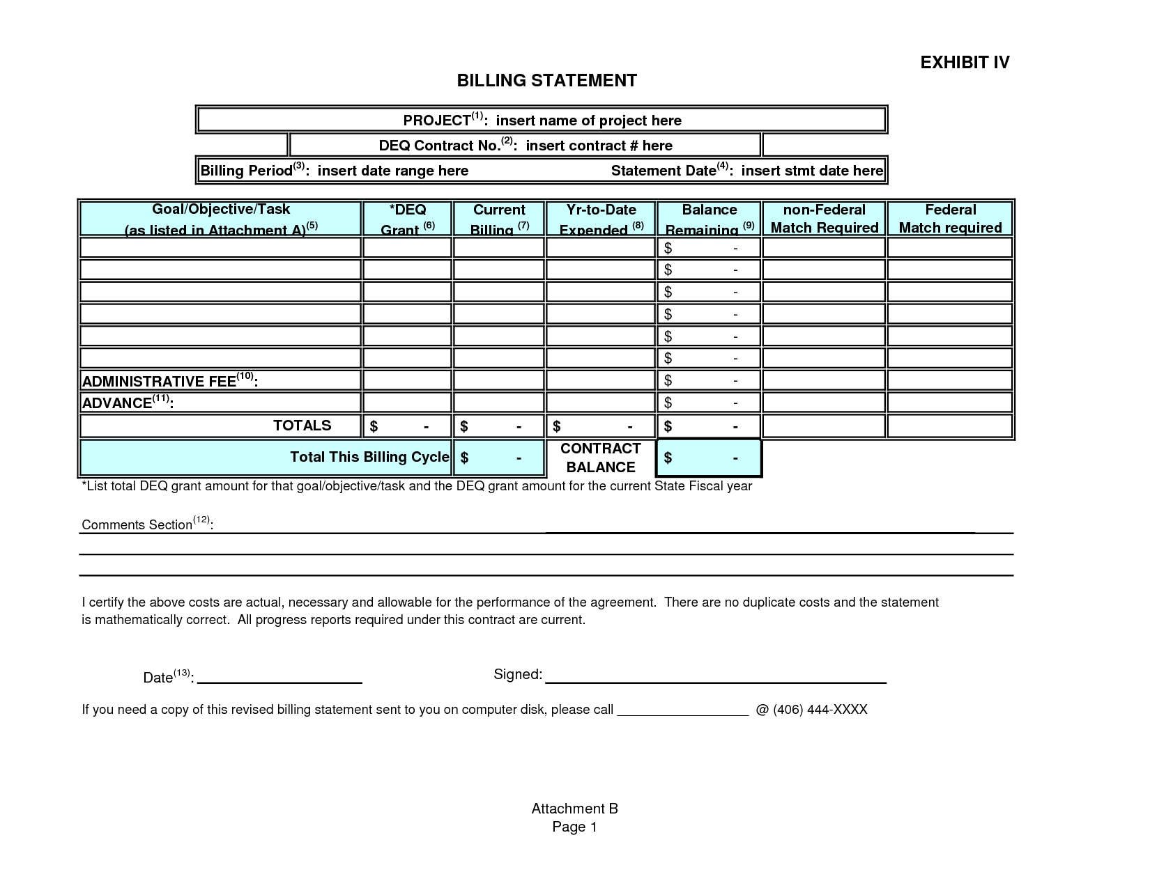 Statement Of Invoice * Invoice Template Ideas