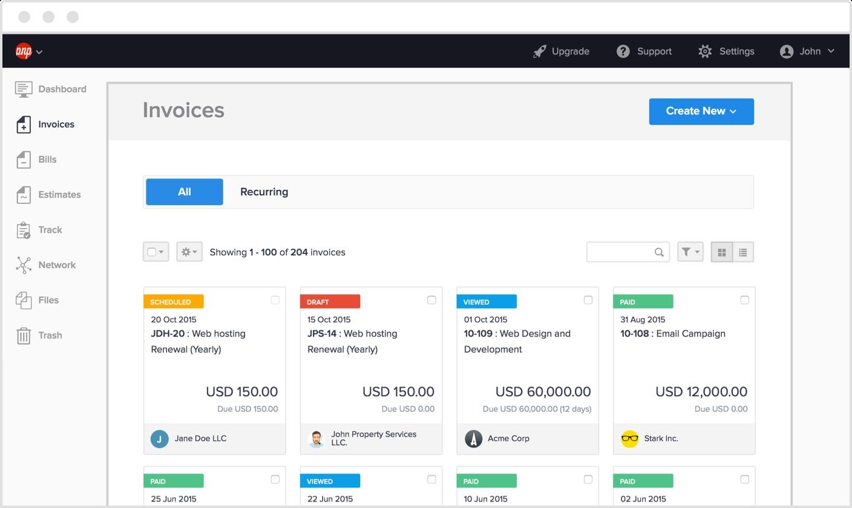 best online invoice amp billing software hiveage best online invoice software