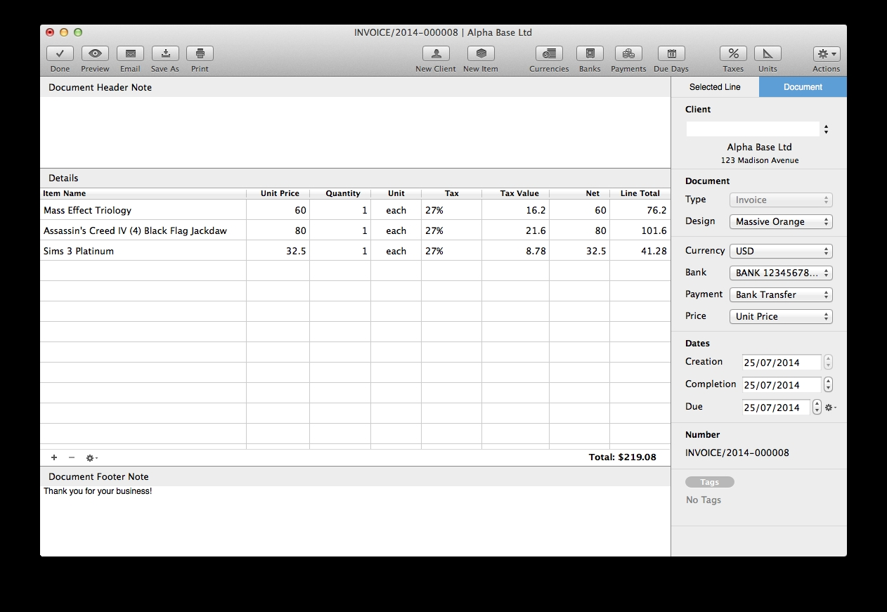 Invoice Program For Mac