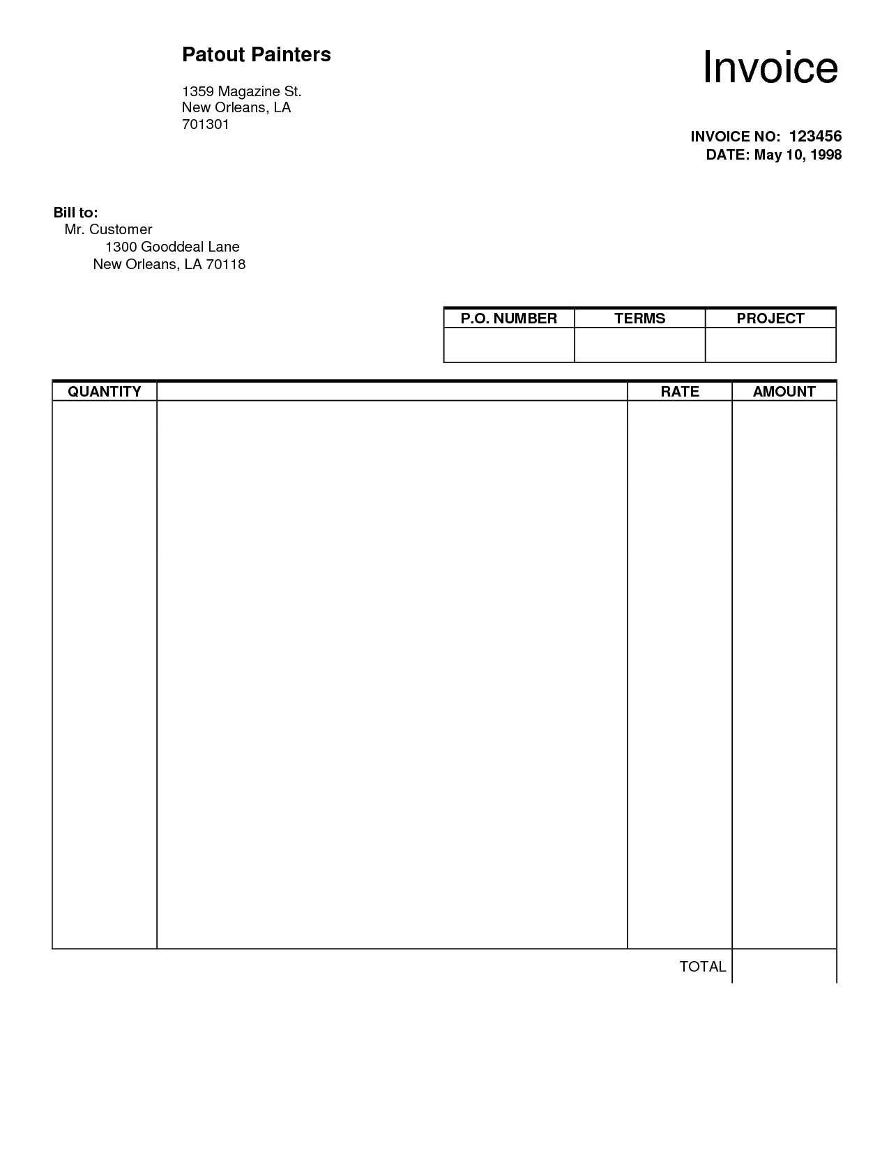 ... Blank Invoice Pdf Free Printable Invoice Blank Invoice Free  Blank Invoices Free