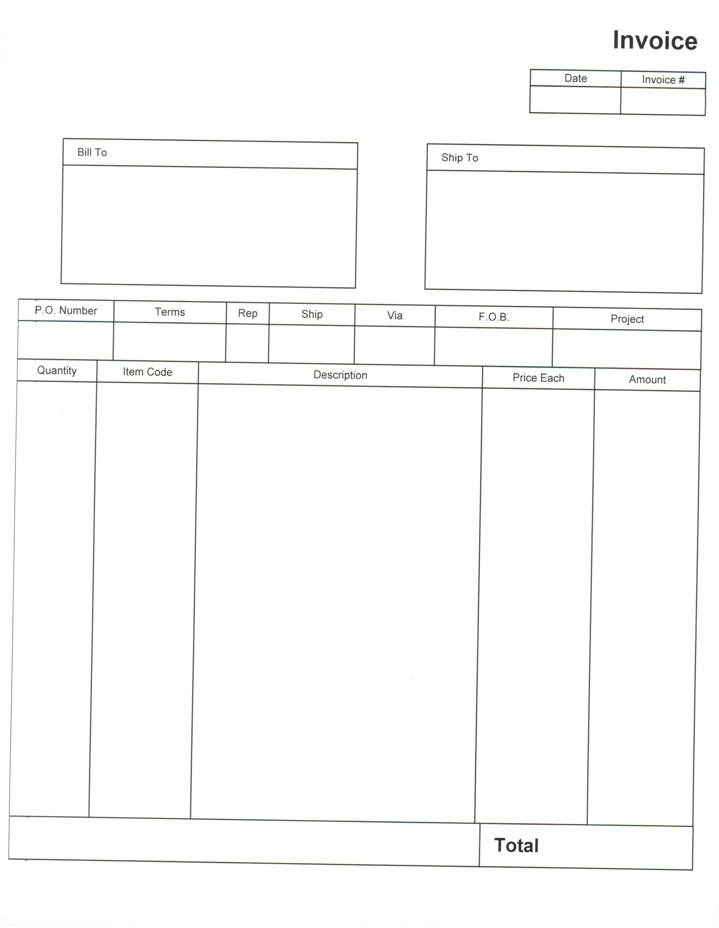 Blank Invoice Form Pdf Invoice Template Ideas - Free invoice template pdf