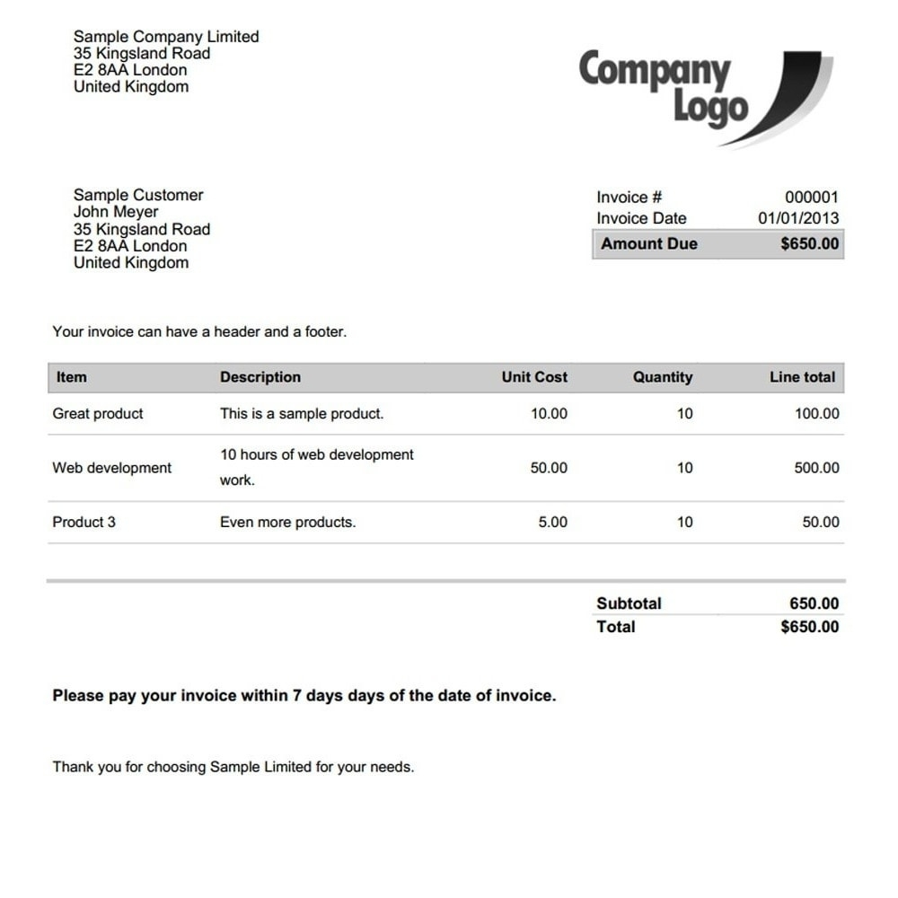 Builders Invoice Template Invoice Template Ideas - Invoice template for builders