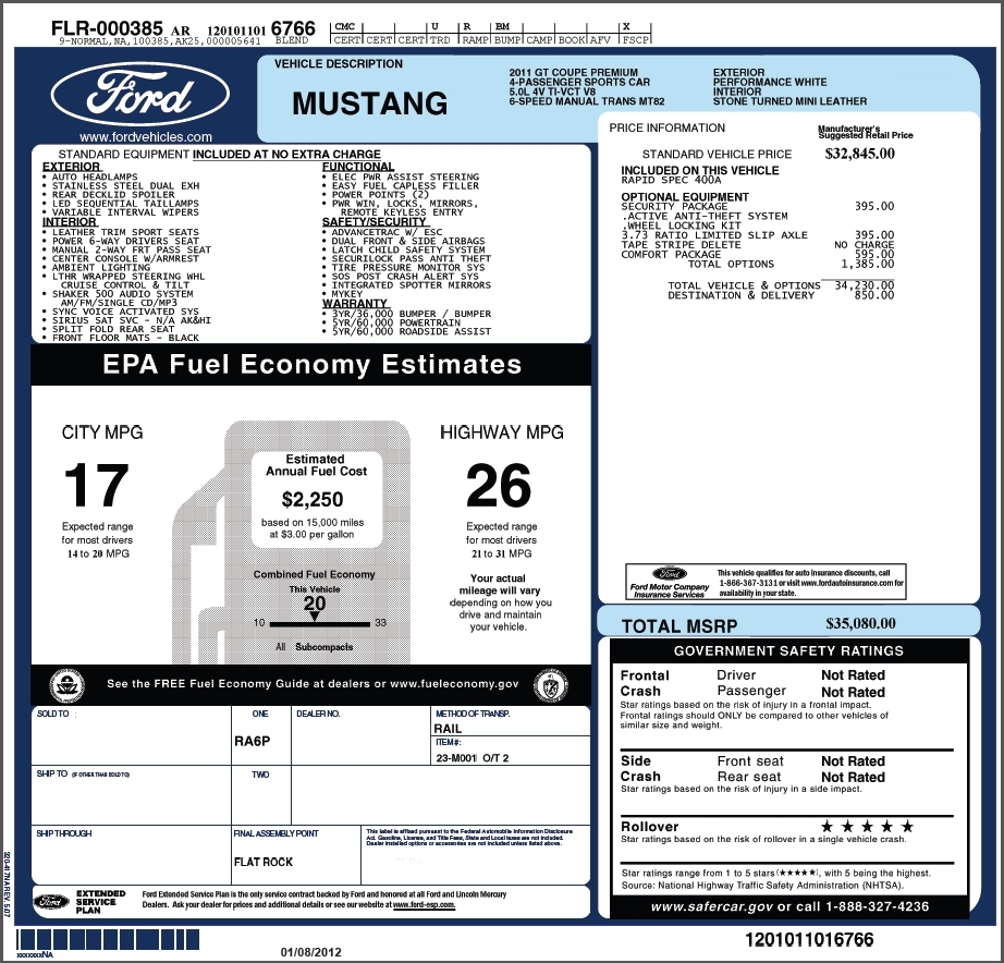Car Dealer Invoice Prices * Invoice Template Ideas