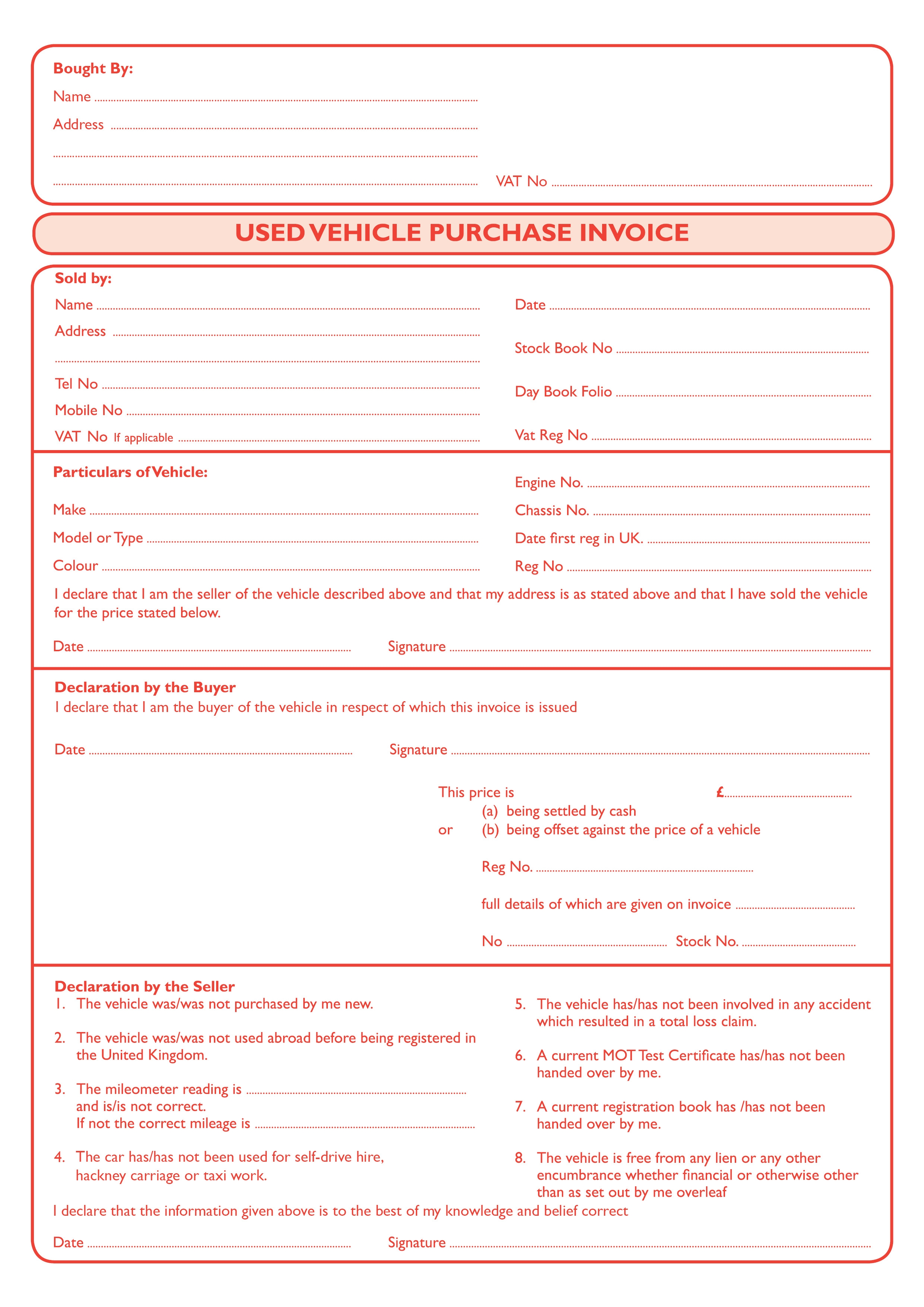 car purchase invoice invoice template ideas. Black Bedroom Furniture Sets. Home Design Ideas