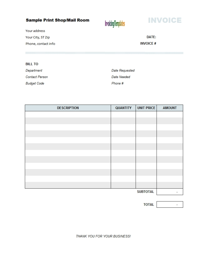 copy of a blank invoice invoice template free 2016 copy of blank invoice