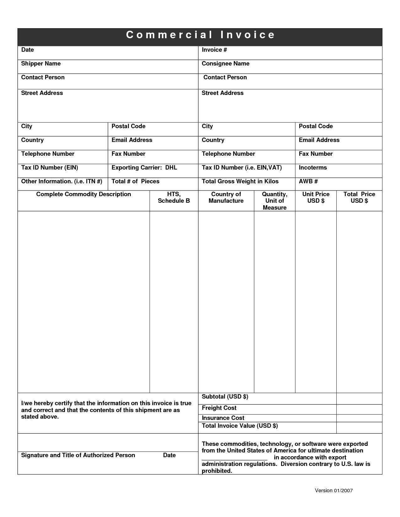 dhl invoice form invoice template ideas. Black Bedroom Furniture Sets. Home Design Ideas