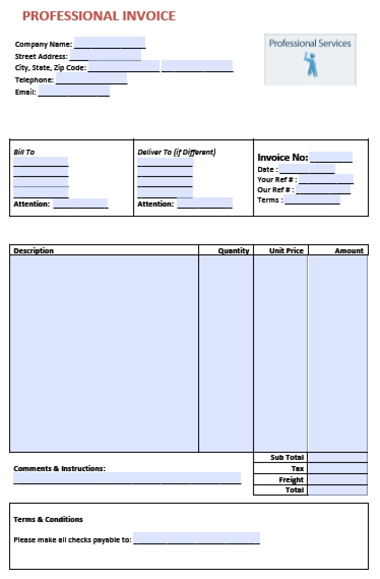 free professional services invoice template excel pdf word service invoice template pdf