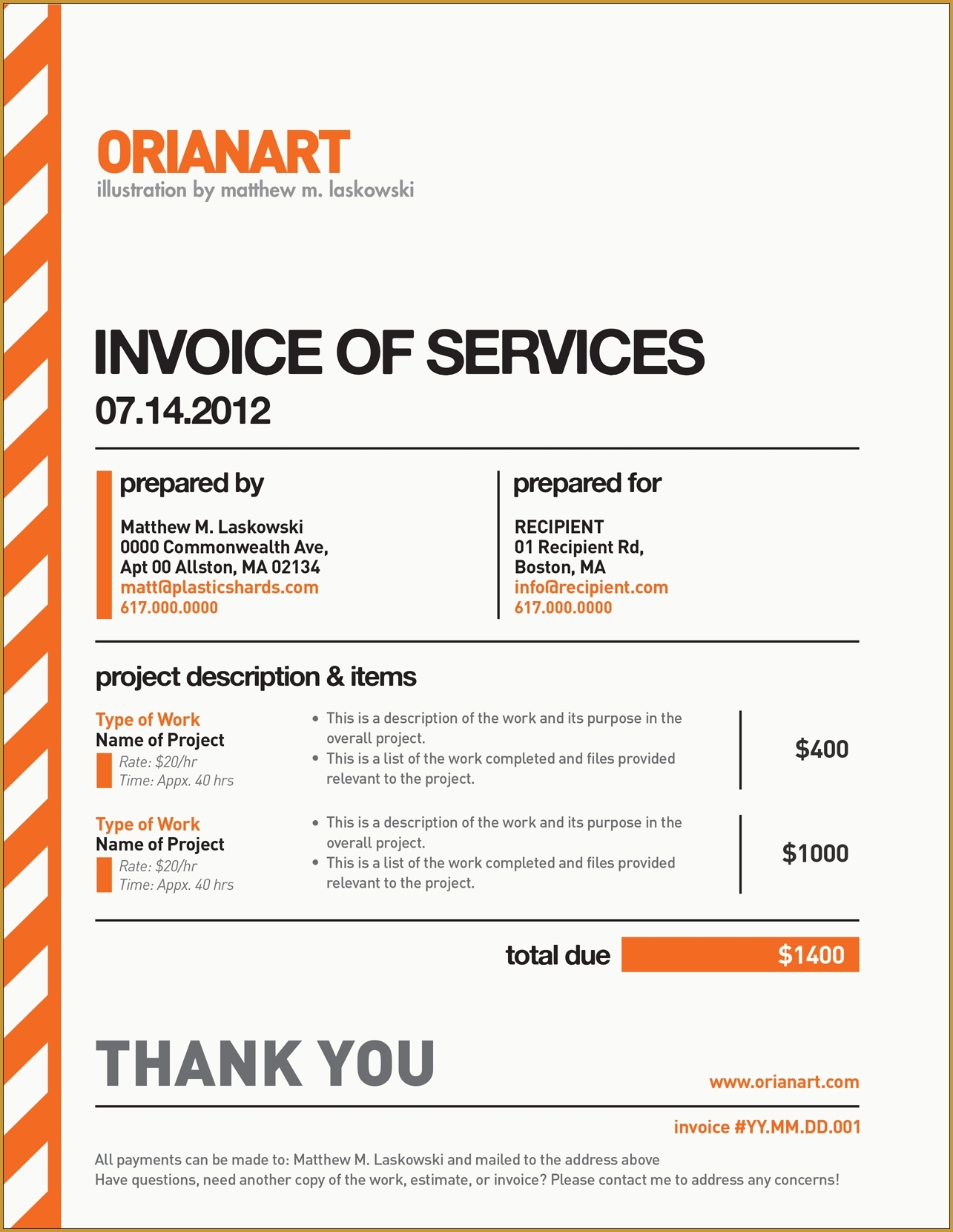 Freelancer Invoice Template Invoice Template Ideas - Invoice template freelance