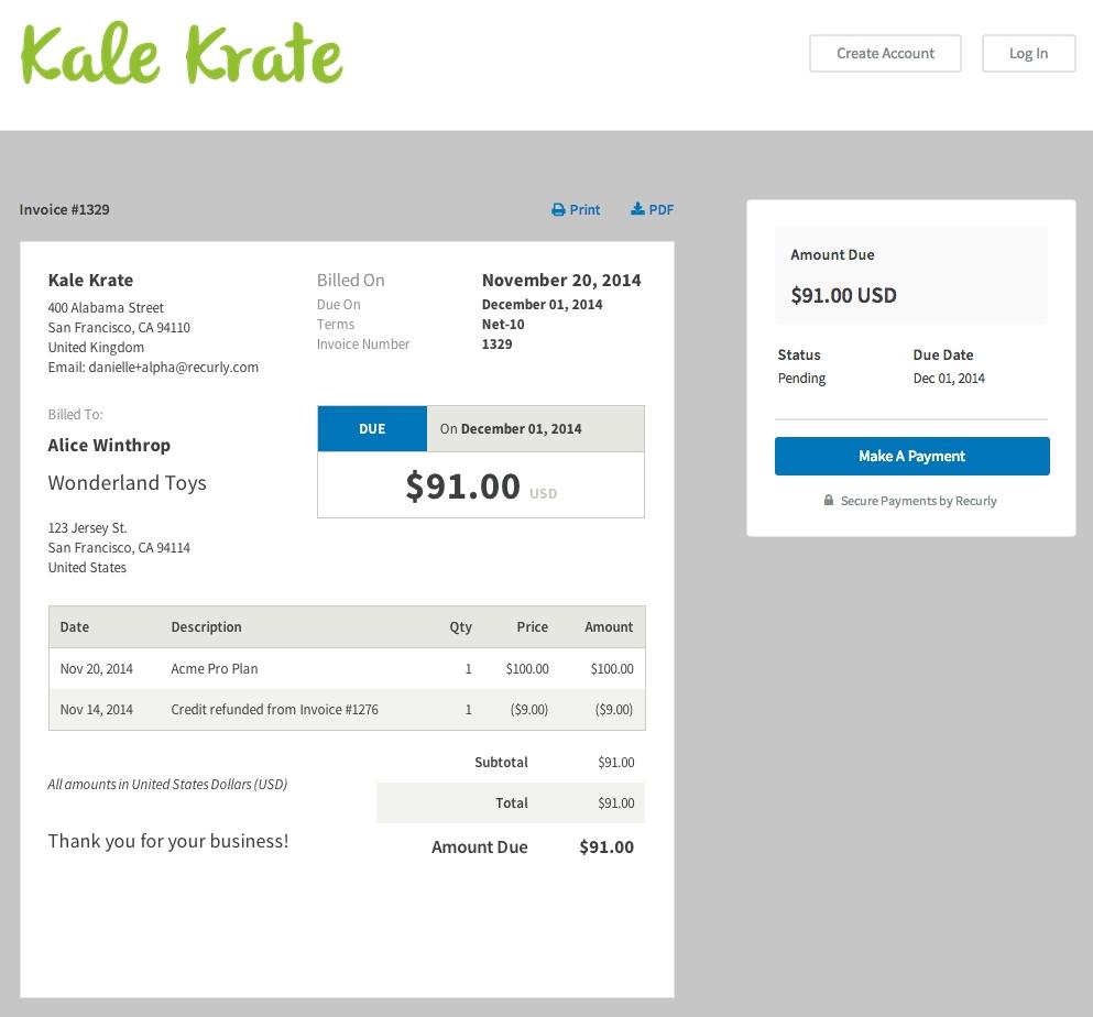 Make invoice online