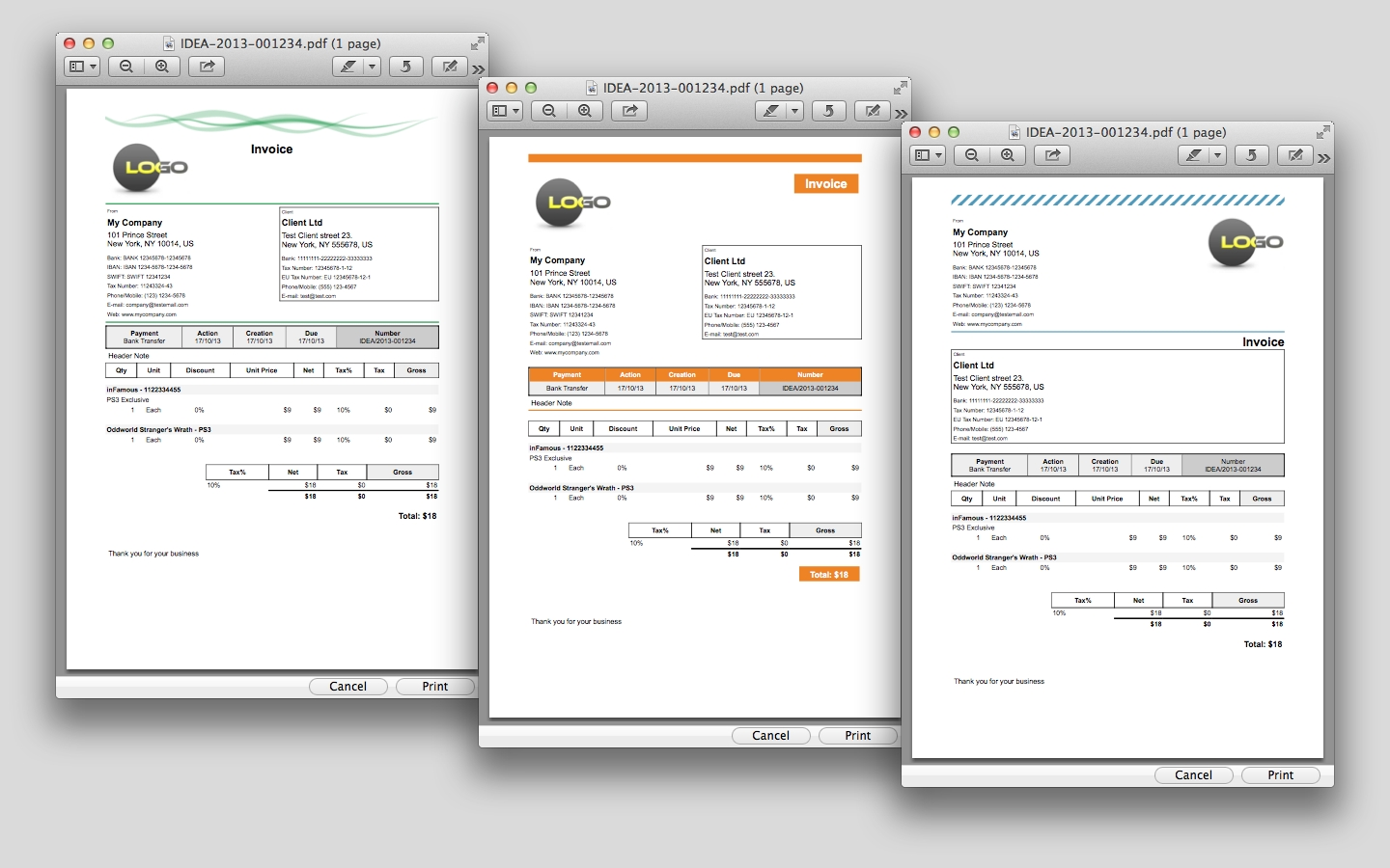 idea invoice apple mac os x invoice program for mac
