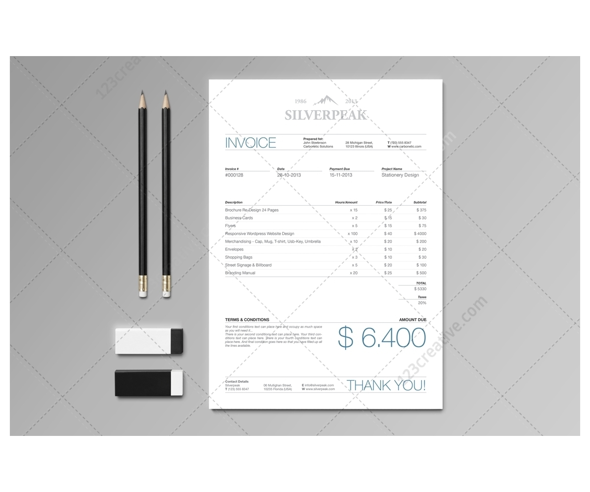Invoice Template Illustrator * Invoice Template Ideas