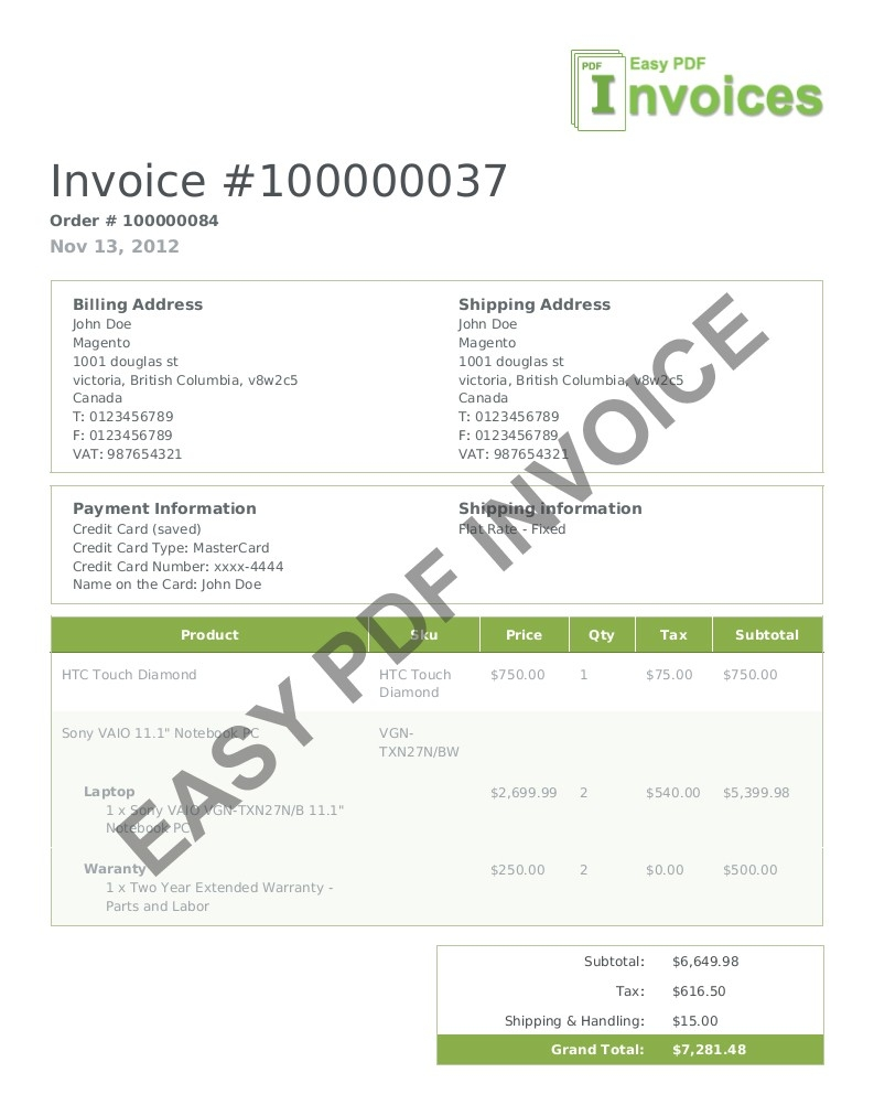magento pdf templates change the look of your invoice layout invoice html template
