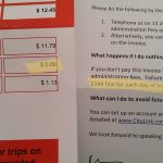 Citylink Late Toll Invoice Cost