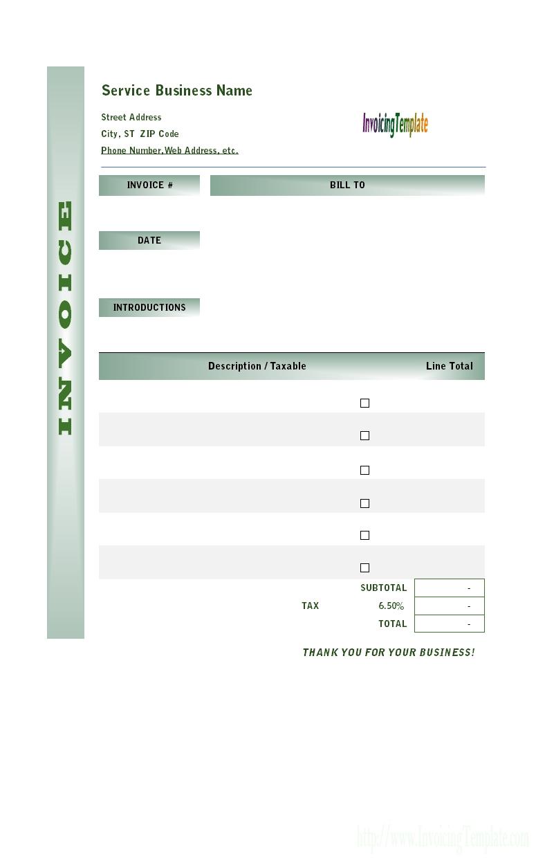 simple service invoice invoice template ideas. Black Bedroom Furniture Sets. Home Design Ideas