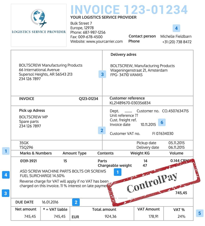 trucking invoice template hardhost info