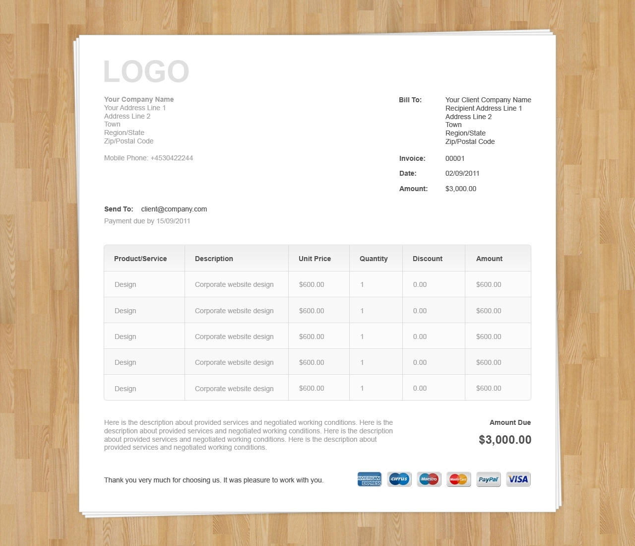 website invoice template free business template invoice html template