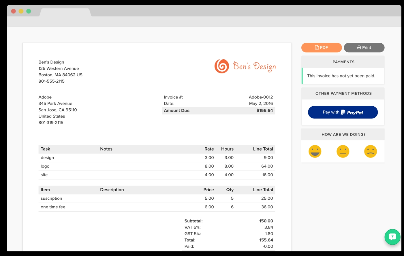 zipbooks invoices now integrate with paypal zipbooks get money like an invoice
