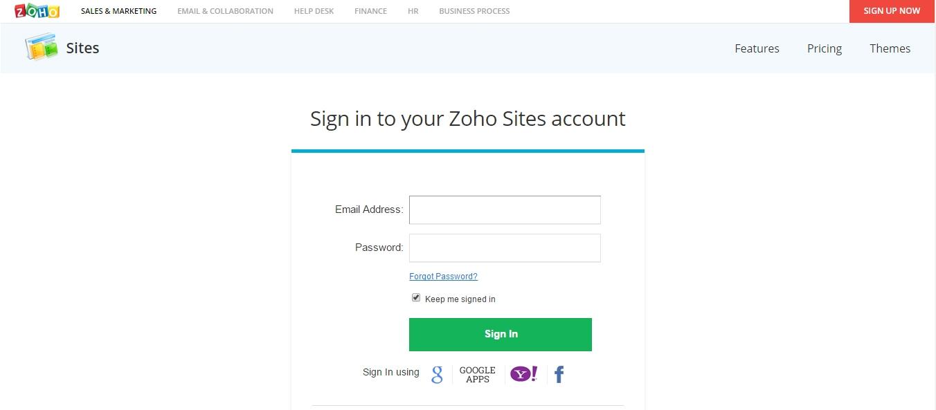 Zoho Invoice Login