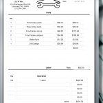 Car Repair Invoice