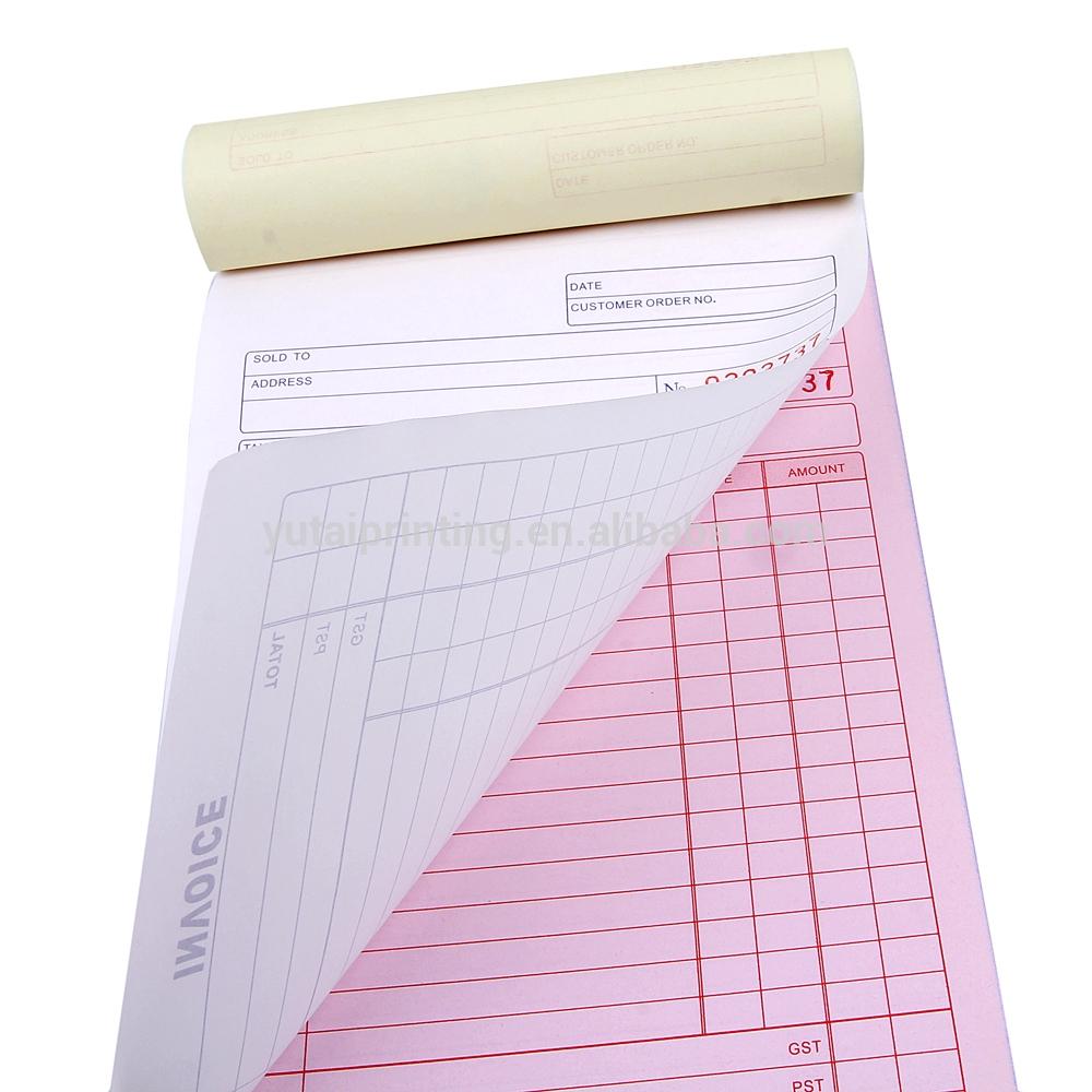Pre Printed Invoice Books
