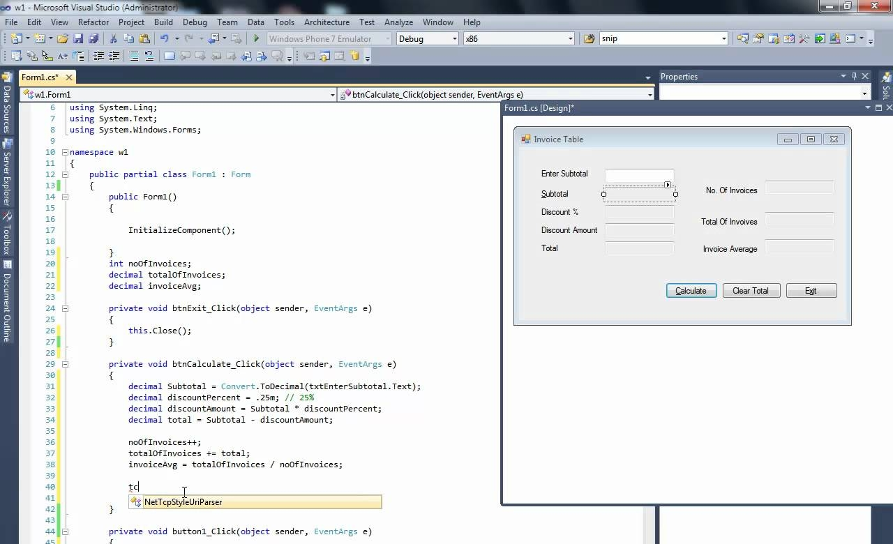 c net with sql server make invoice in datagridview part 1 dot net invoice