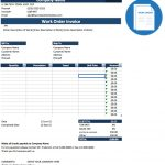 Customer Invoice Template Excel