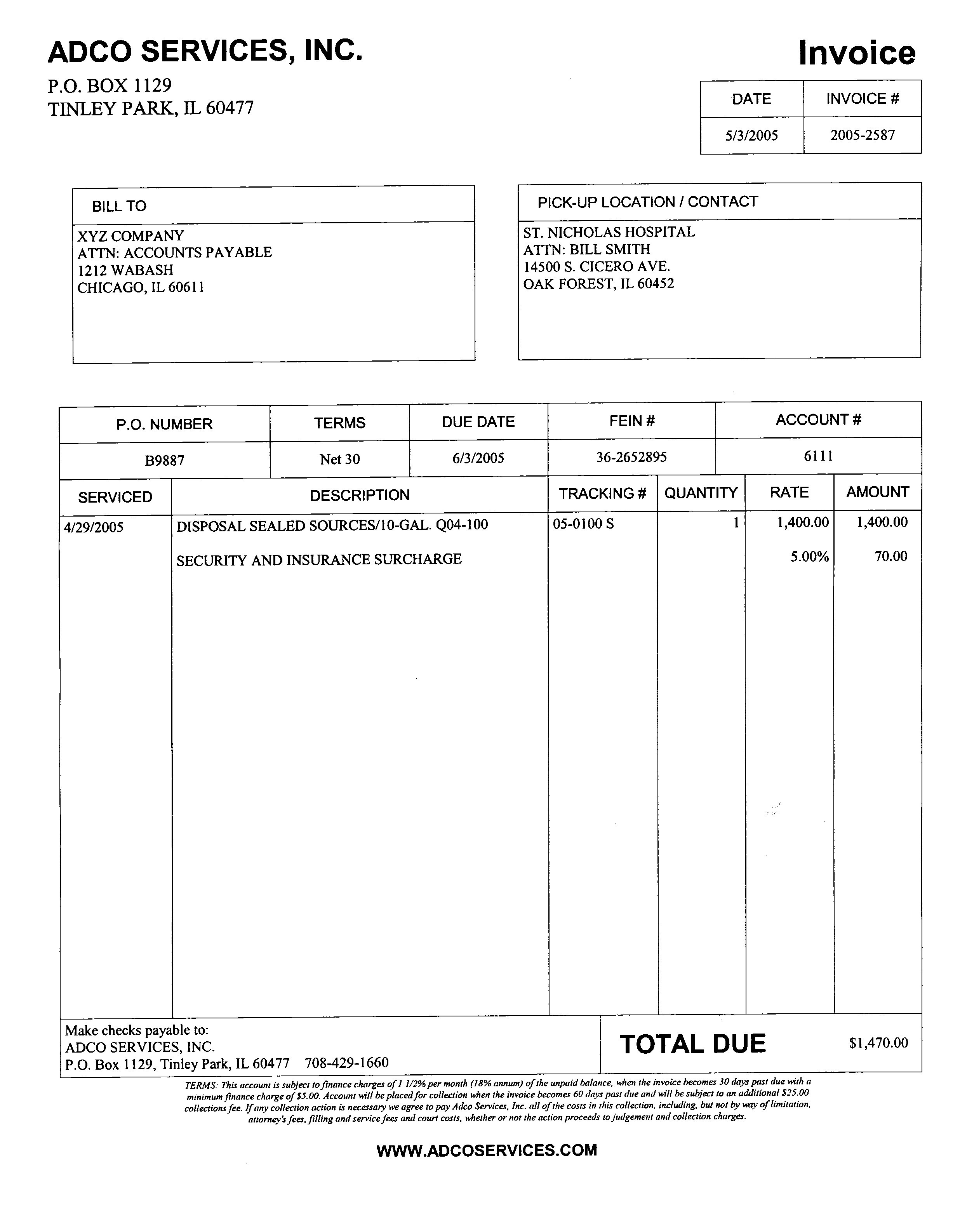 Fake Invoice Template