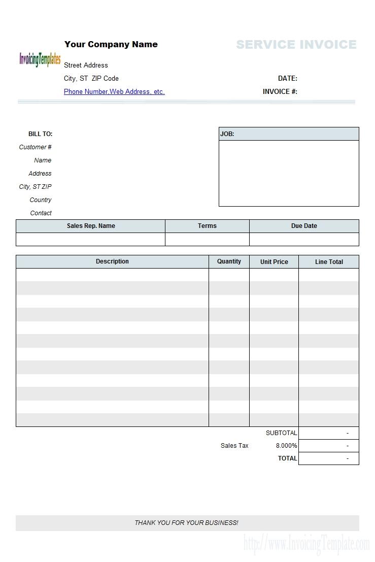 free auto repair invoice template quick invoice template
