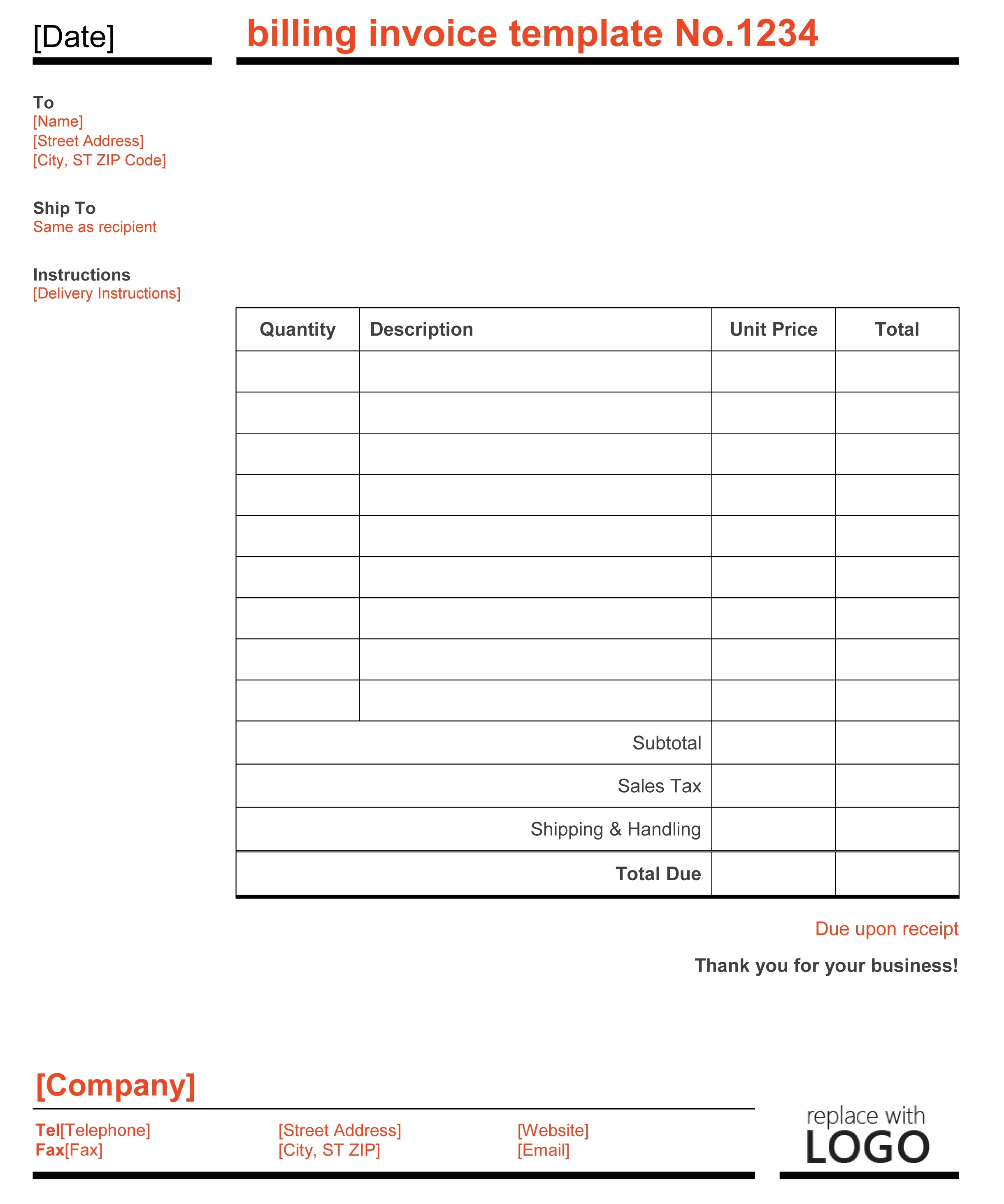 free billing invoice template microsoft word best business template billing invoice template