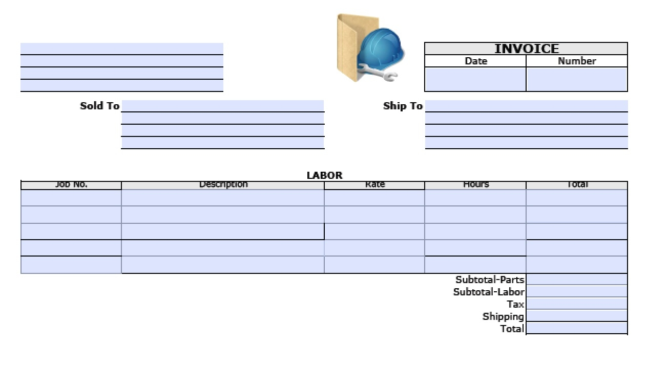 free general labor invoice template excel pdf word doc labor invoice template free