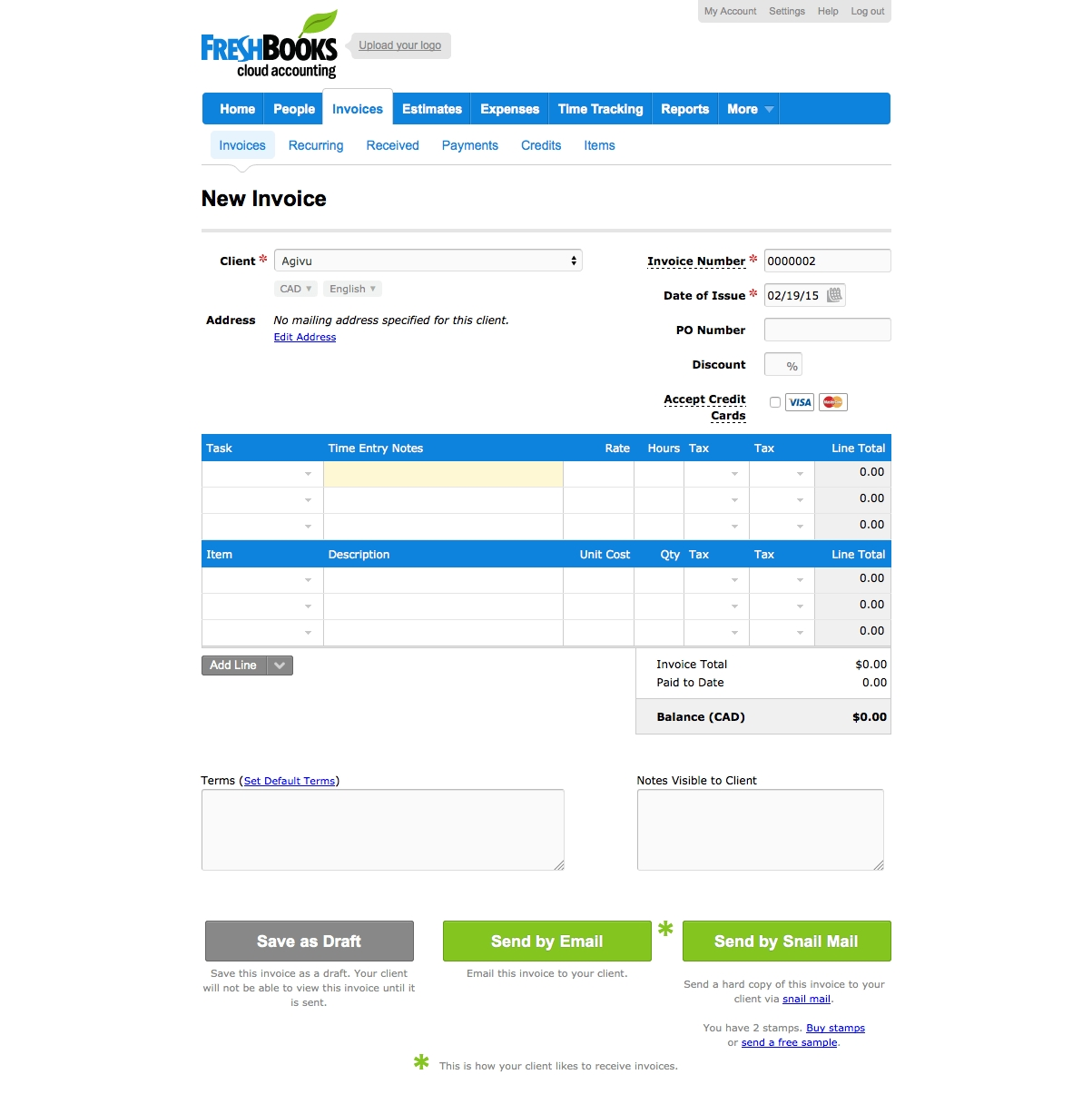 Freshbooks Invoice Template