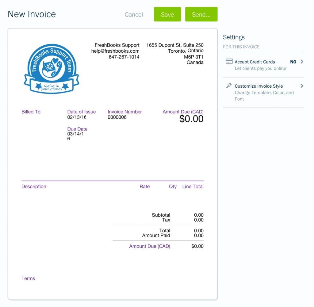 freshbooks invoice template invoicegenerator freshbooks invoice template
